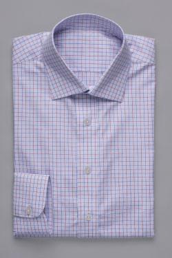 Medium Blue Multi Colour Poplin Shirt
