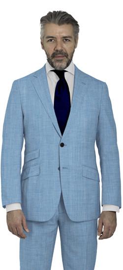 Light Blue Mohair Custom Suit