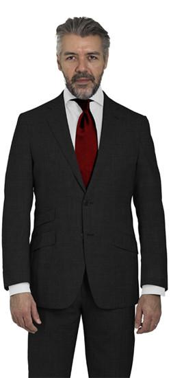 Charcoal Sharkskin Suit
