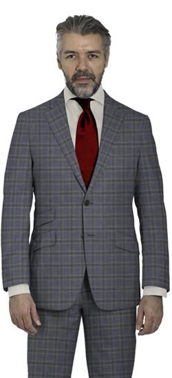 Light Blue Check Suit
