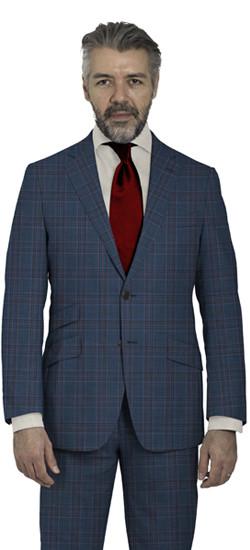 Blue Checks Suit