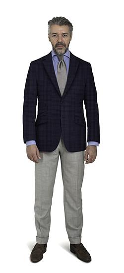 Bluish Check Coat